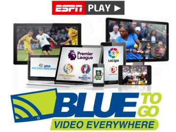 ESPN Play disponible a través de Blue to Go Video Everywhere