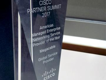 Megacable recibió el Americas Managed Enterprise Networking Service de Cisco