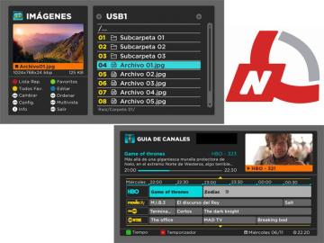 Nueva interfaz para STBs SD y HD MPEG-4 de Network Broadcast
