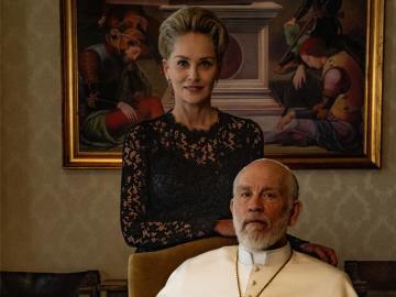 "Sharon Stone y Marilyn Manson en ""The New Pope"""